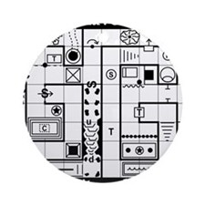 Dungeon Map Ornament (Round)