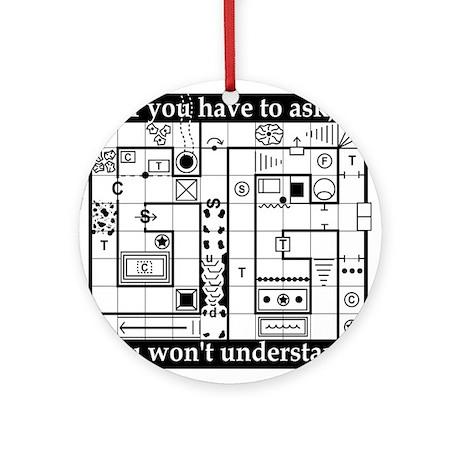 Dungeon Map Ornament (Round)