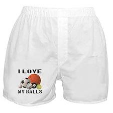 I Love My Balls Boxer Shorts