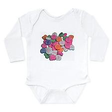 Sour Hearts Long Sleeve Infant Bodysuit