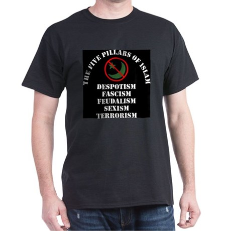 The Five Pillars of Islam Black T-Shirt