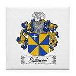 Salomoni Family Crest  Tile Coaster