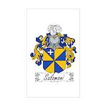 Salomoni Family Crest Rectangle Sticker