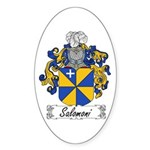 Salomoni Family Crest Oval Sticker
