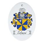 Salomoni Family Crest  Oval Ornament