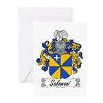 Salomoni Family Crest  Greeting Cards (Package of
