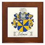 Salomoni Family Crest  Framed Tile