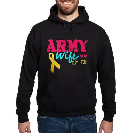 Army Wife Est 2011 Hoodie (dark)