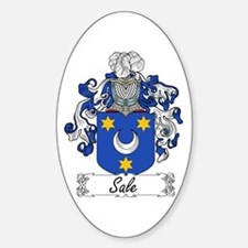 Sale Family Crest Oval Decal