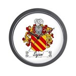 Sajani Family Crest  Wall Clock
