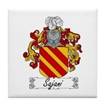 Sajani Family Crest  Tile Coaster