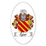 Sajani Family Crest Oval Sticker