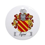 Sajani Family Crest  Ornament (Round)