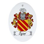 Sajani Family Crest  Oval Ornament