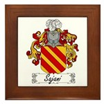 Sajani Family Crest  Framed Tile
