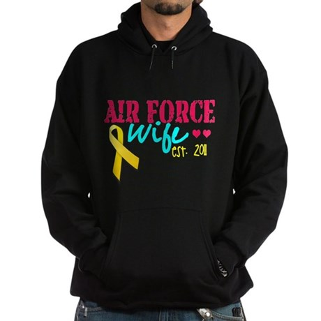 Air Force Wife Est 2011 Hoodie (dark)