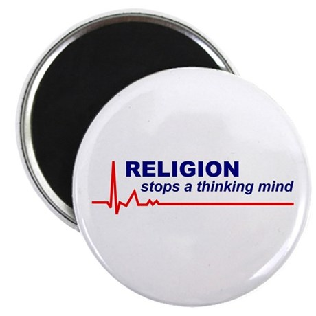 100 Religion Stops Thinking Mind Round Magnets