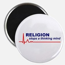 10 Religion Stops Thinking Mind Round Magnets