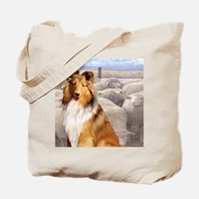 Shelty with Sheep Tote Bag