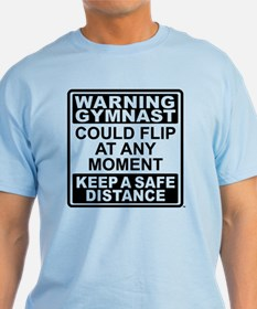 Warning Gymnast Flip T-Shirt