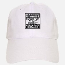 Warning Gymnast Flip Baseball Baseball Cap