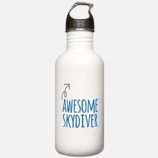 Awesome skydiver Water Bottle