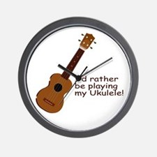 Ukulele Design Wall Clock