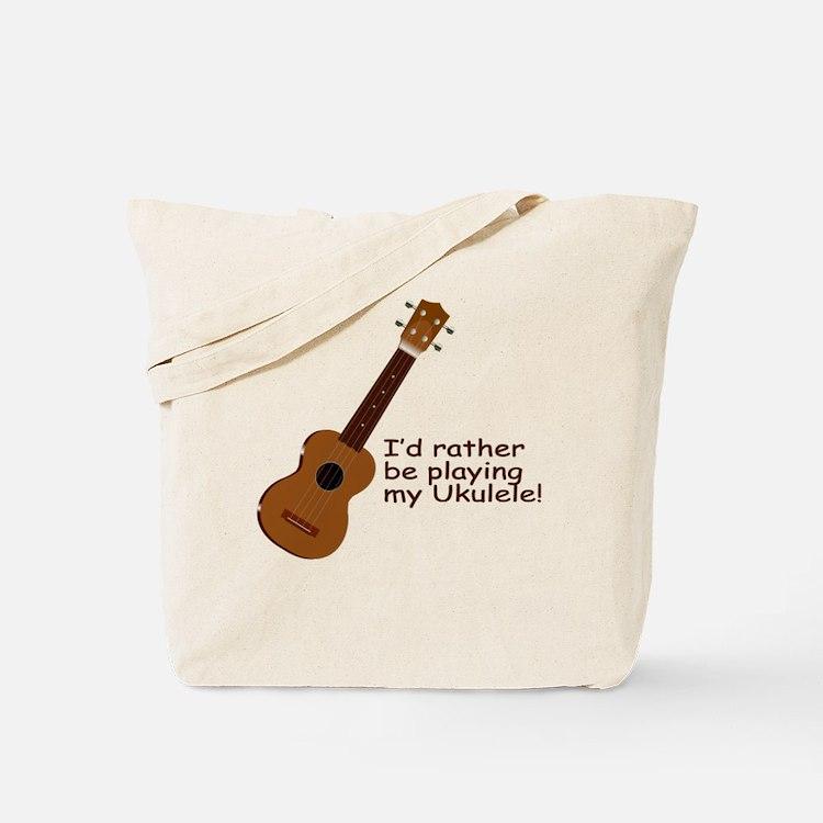 Ukulele Design Tote Bag