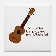 Ukulele Design Tile Coaster