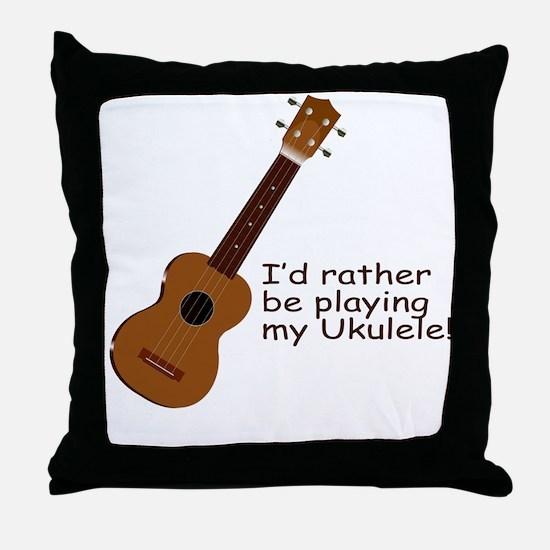 Ukulele Design Throw Pillow