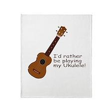 Ukulele Design Throw Blanket