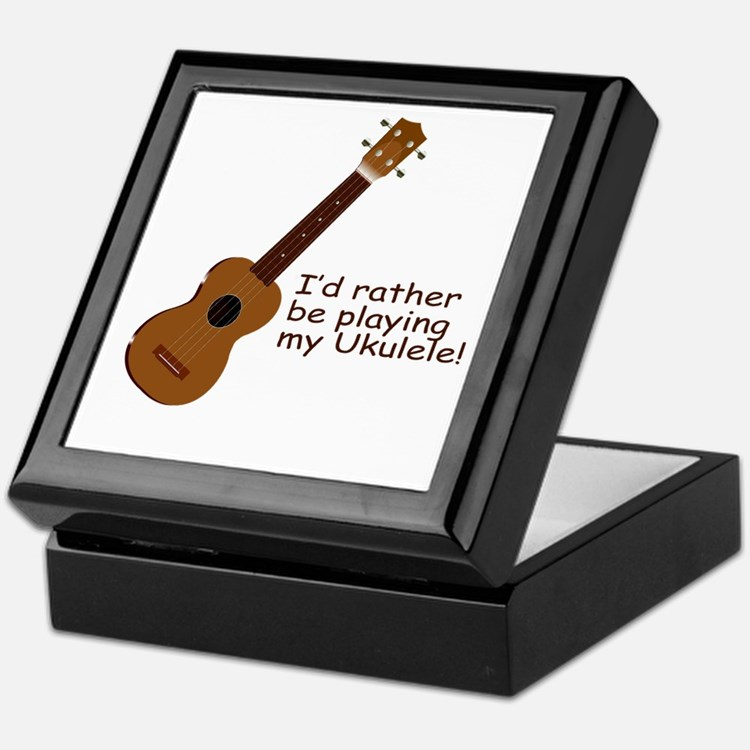 Ukulele Design Keepsake Box