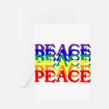 PEACE UNITY Greeting Card