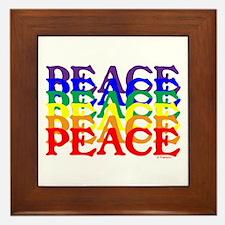 PEACE UNITY Framed Tile