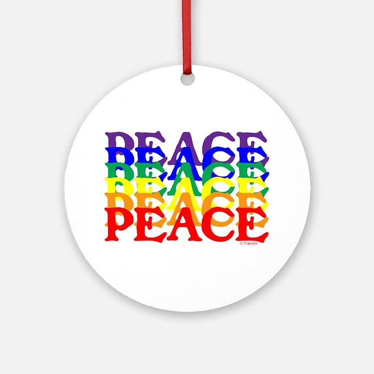 PEACE UNITY Ornament (Round)