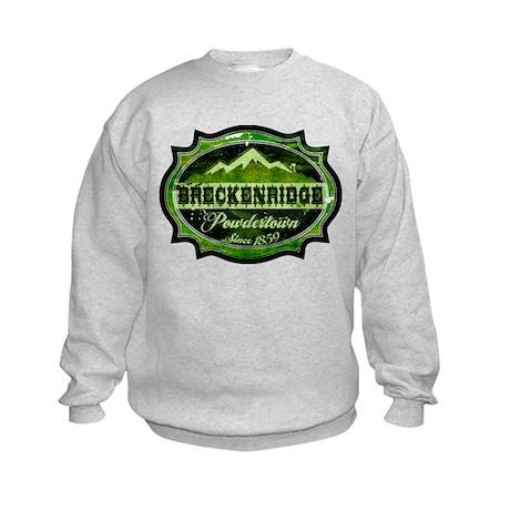 Breckenridge Powdertown Spring Kids Sweatshirt