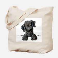 PoCKeT Black Lab Puppy Tote Bag