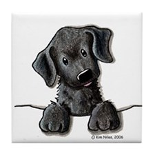 PoCKeT Black Lab Puppy Tile Coaster