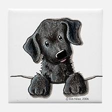PoCKeT Black Lab Puppy Tile Coaster