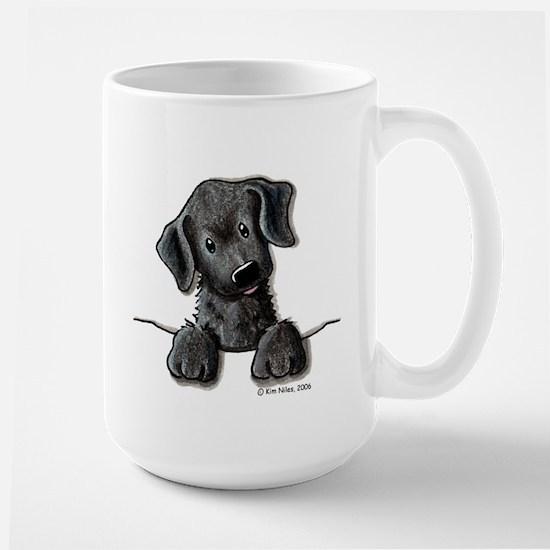 PoCKeT Black Lab Puppy Large Mug