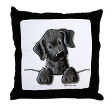 PoCKeT Black Lab Puppy Throw Pillow