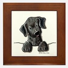 PoCKeT Black Lab Puppy Framed Tile