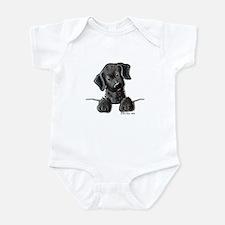 PoCKeT Black Lab Puppy Infant Creeper