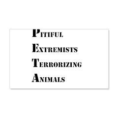 Anti-PETA 22x14 Wall Peel