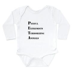 Anti-PETA Long Sleeve Infant Bodysuit