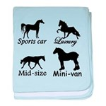 Horse Cars baby blanket