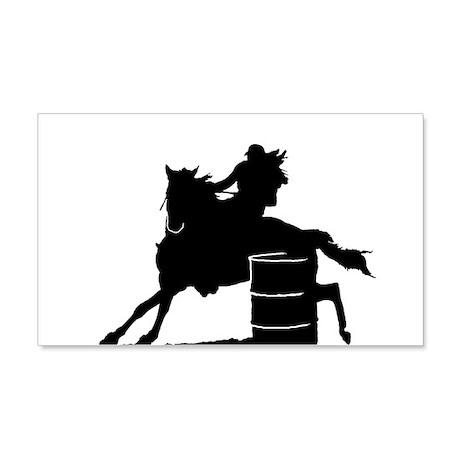 barrel racing silhouette 22x14 Wall Peel