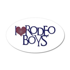 Rodeo Boys 38.5 x 24.5 Oval Wall Peel