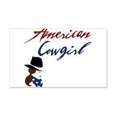USA Cowgirl 22x14 Wall Peel