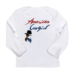 USA Cowgirl Long Sleeve Infant T-Shirt